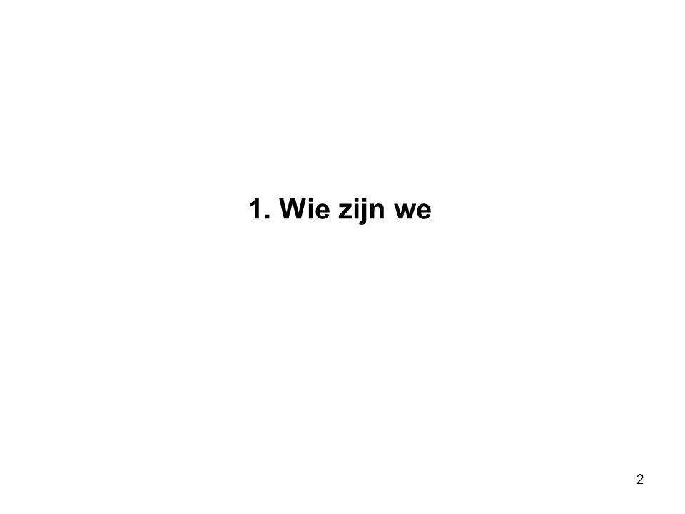 2 1. Wie zijn we