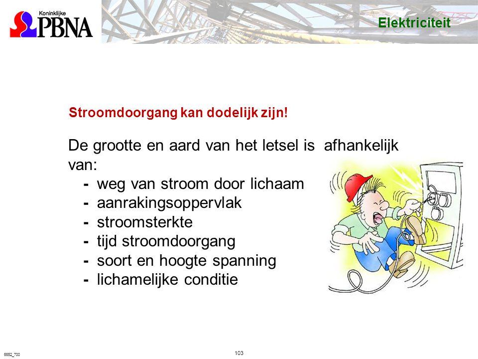 103 6652_700 Stroomdoorgang kan dodelijk zijn.