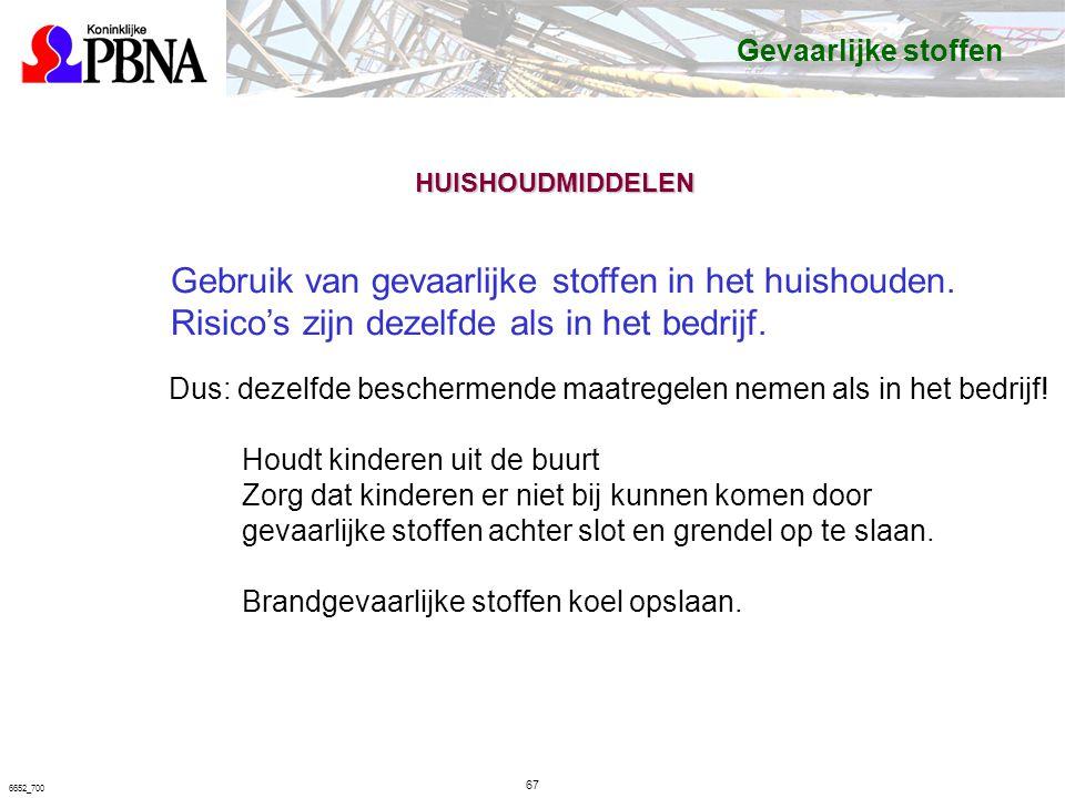 67 6652_700 Gebruik van gevaarlijke stoffen in het huishouden.