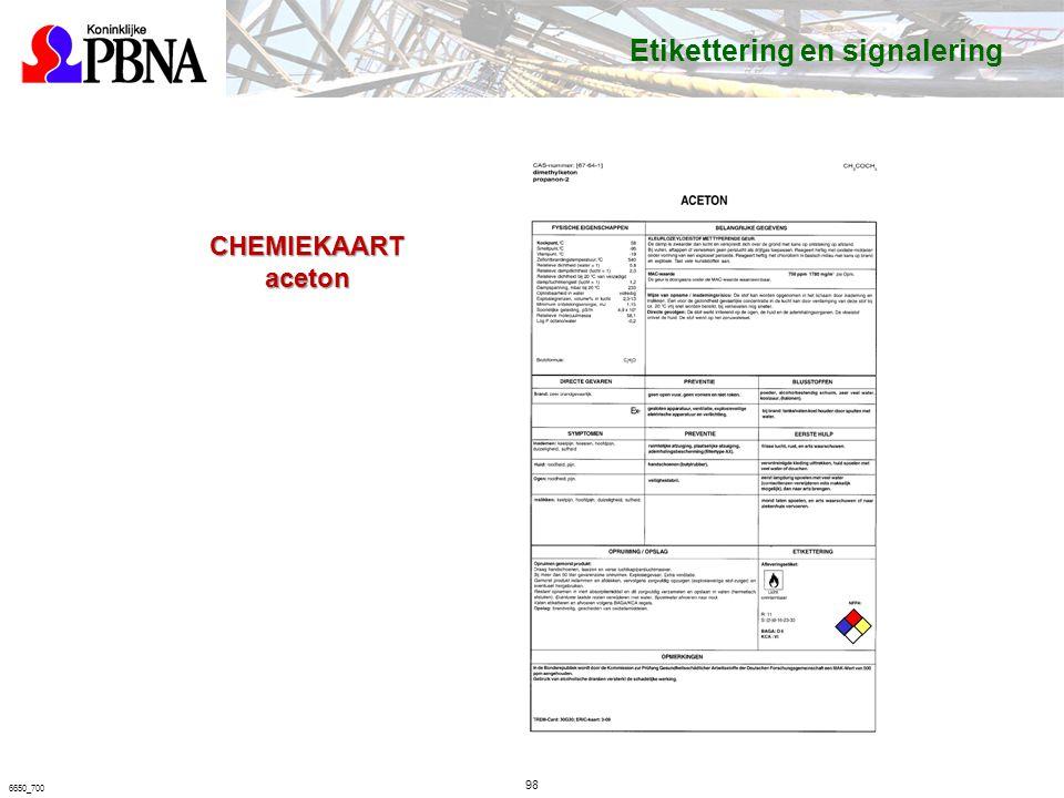 6650_700 CHEMIEKAART aceton Etikettering en signalering 98
