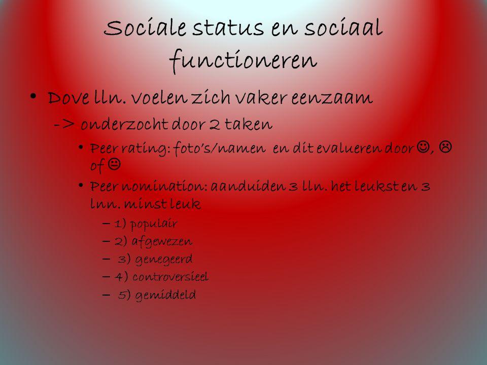 Sociale status en sociaal functioneren Dove lln.