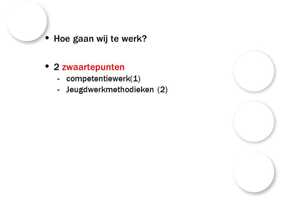 (1)competentiewerk Een voortraject is een sleutelcompetentietraject Verschil met technische competenties.