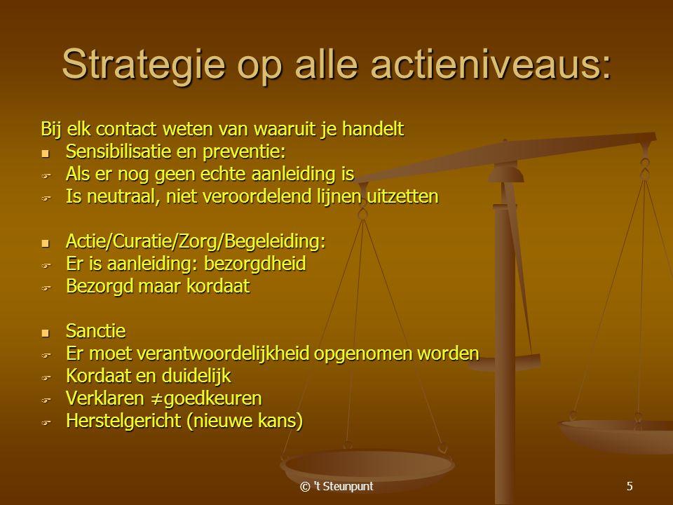© t Steunpunt6 Leerkracht, individuele begeleiders Deze jongere is niet alleen student, hou je blik open(A-B-C)
