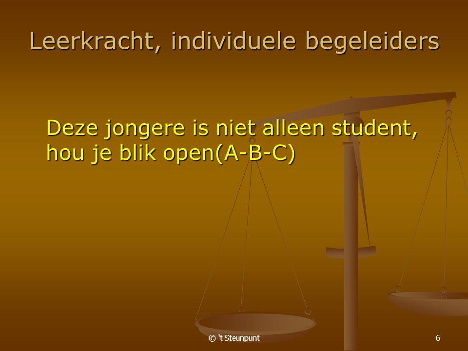© t Steunpunt7 Belangrijke inspiratiebronnen: www.ond.vlaanderen.be www.ond.vlaanderen.be www.ond.vlaanderen.be Prof.
