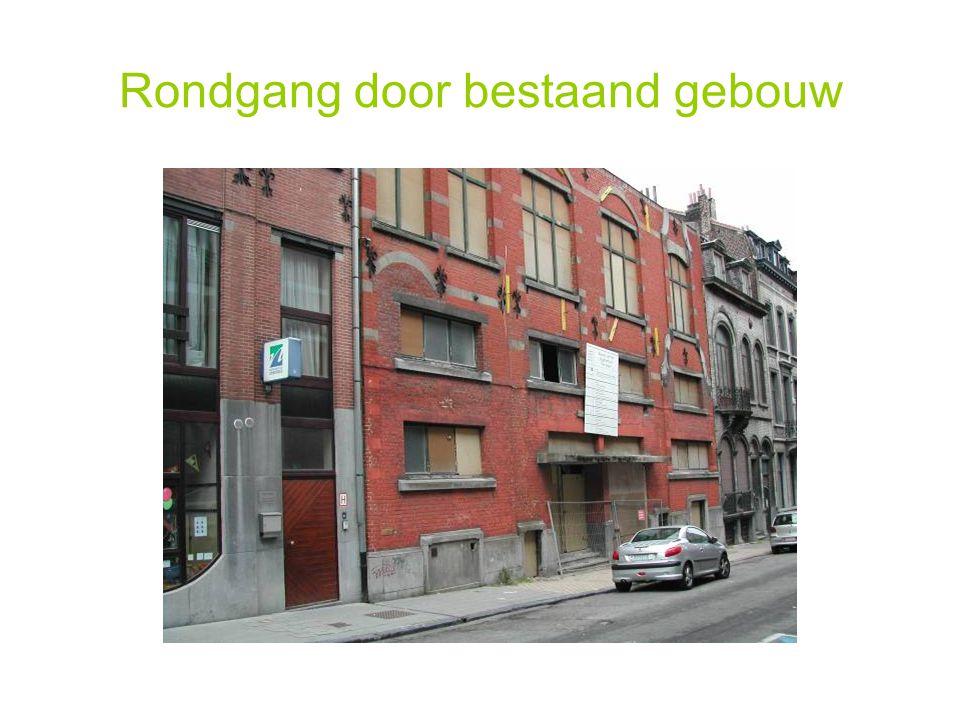 Rondgang door bestaand gebouw