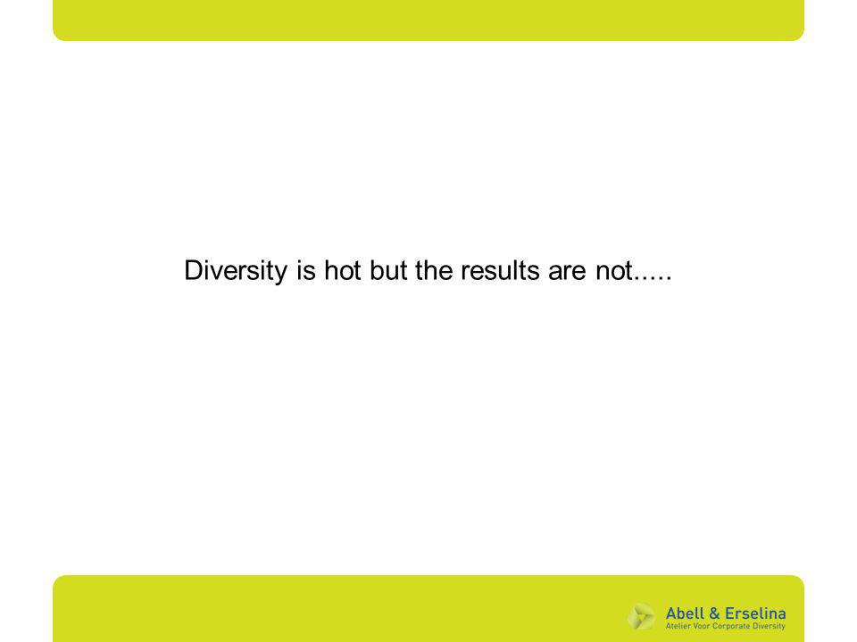 Diversity is hot but the results are not.....