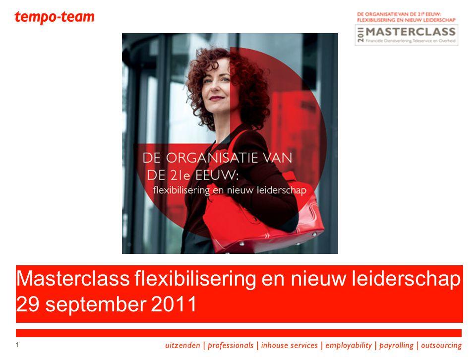 1 Masterclass flexibilisering en nieuw leiderschap 29 september 2011