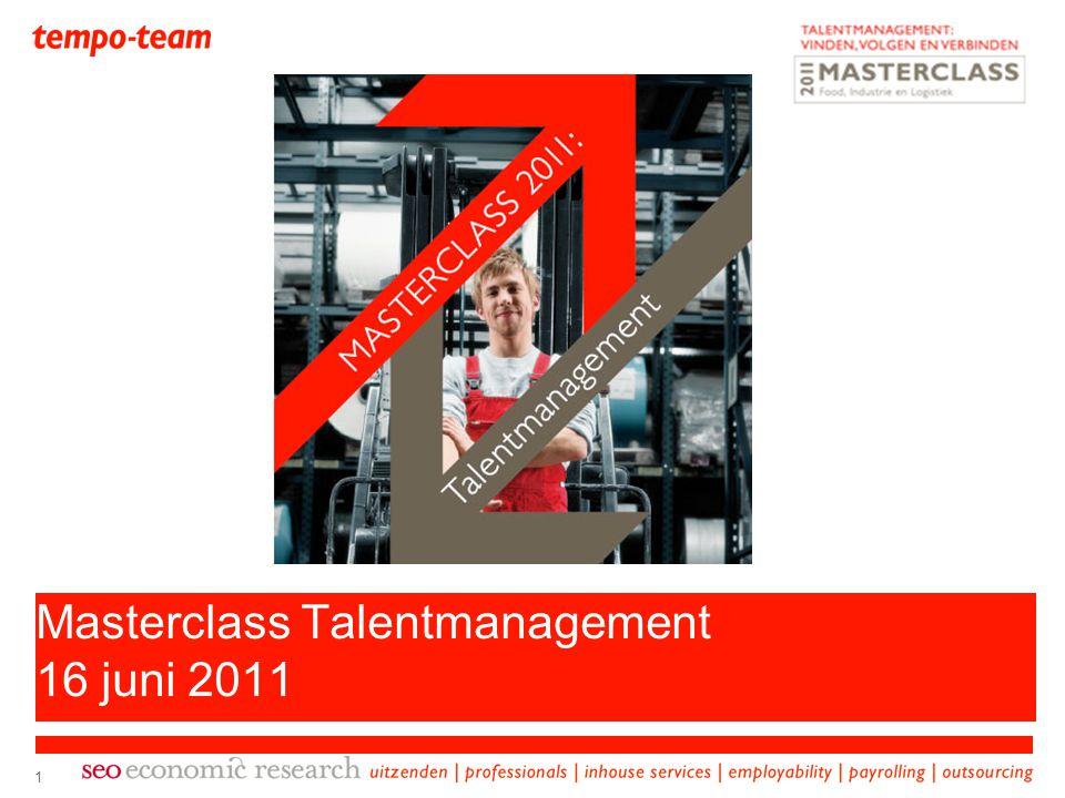 1 Masterclass Talentmanagement 16 juni 2011