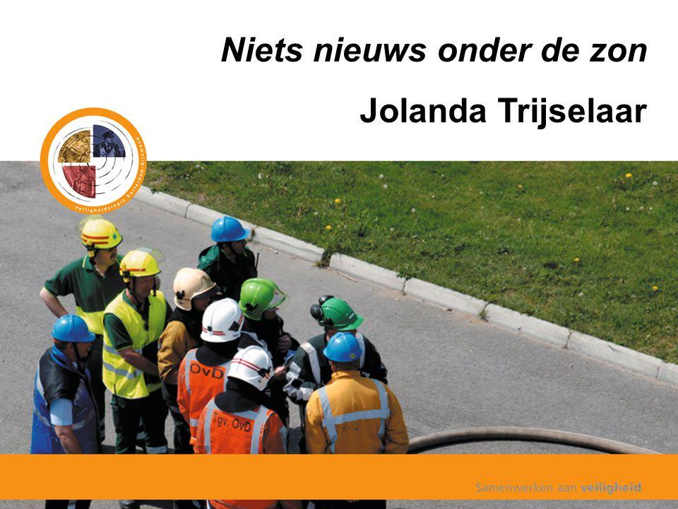 Niets nieuws onder de zon Jolanda Trijselaar