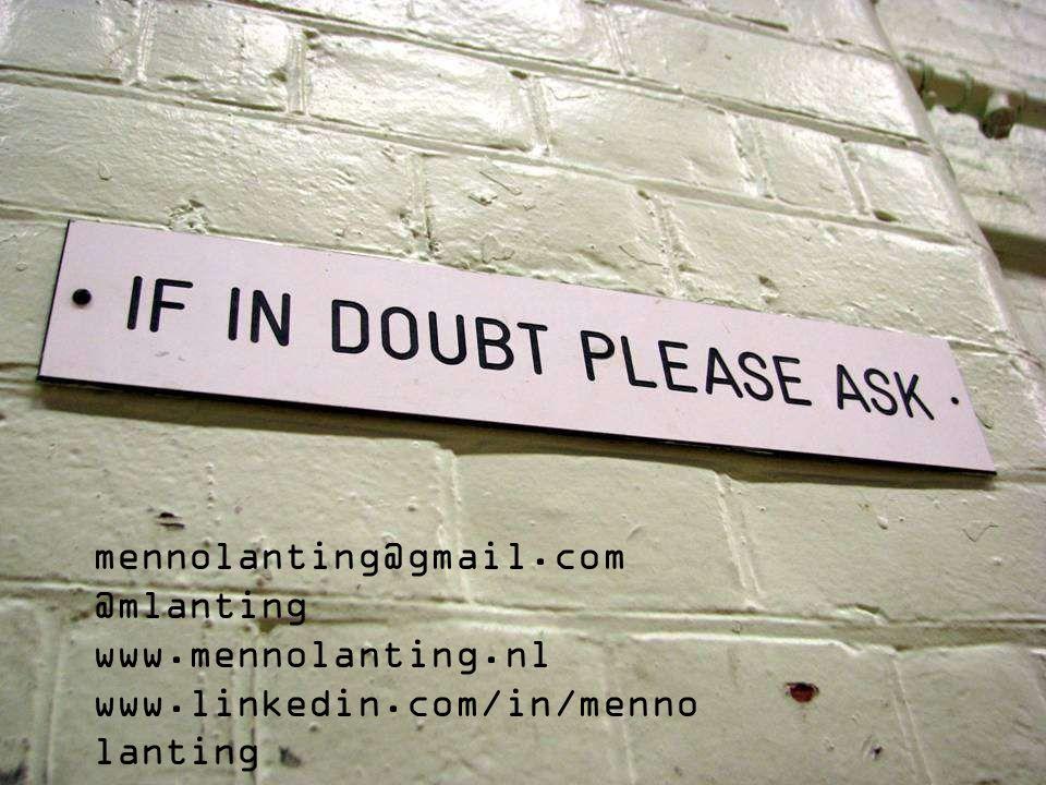 mennolanting@gmail.com @mlanting www.mennolanting.nl www.linkedin.com/in/menno lanting