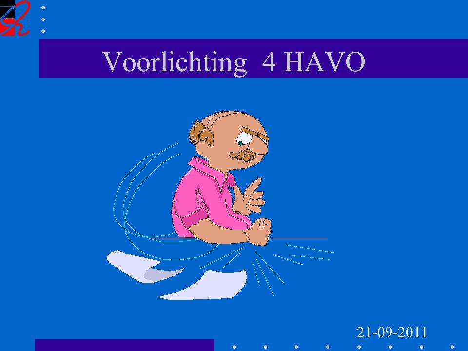Voorlichting 4 HAVO 21-09-2011