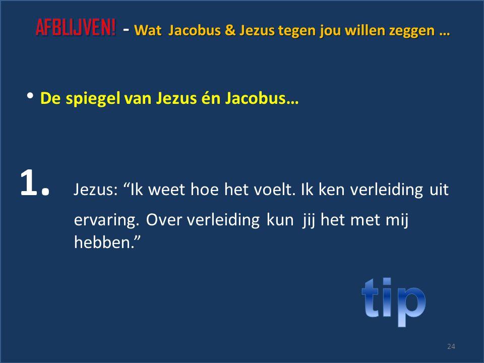 De spiegel van Jacobus… 5. Is het wijs om een solist te zijn? 23 1. Keuzes: ramp of buitenkans? 2. Praat jij over je verleiding met God? 3. Houdt jij
