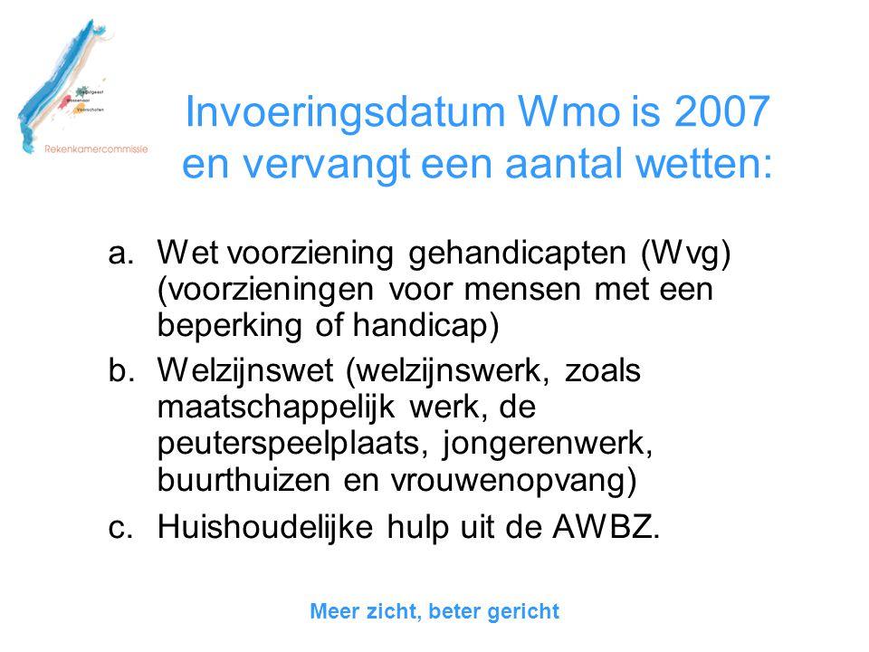 9 prestatievelden WMO 1.Bevorderen van de sociale samenhang in en leefbaarheid van dorpen, wijken en buurten.