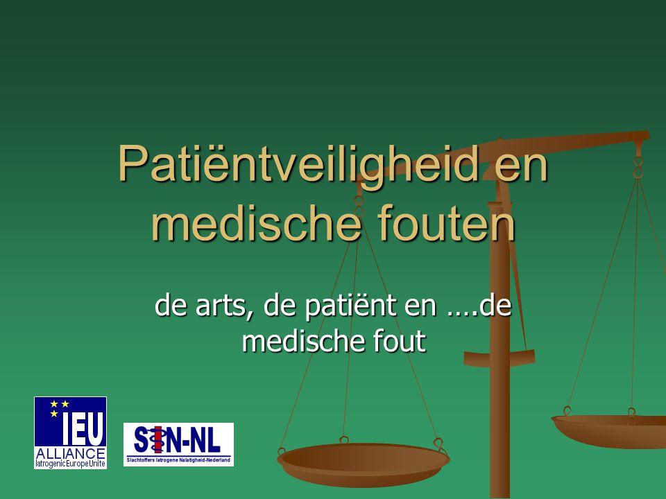 Patiëntveiligheid en medische fouten de arts, de patiënt en ….de medische fout