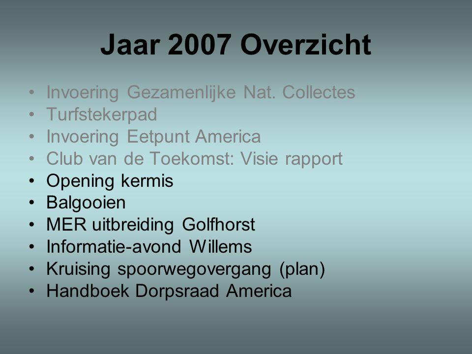 Jaar 2007 Overzicht Invoering Gezamenlijke Nat.