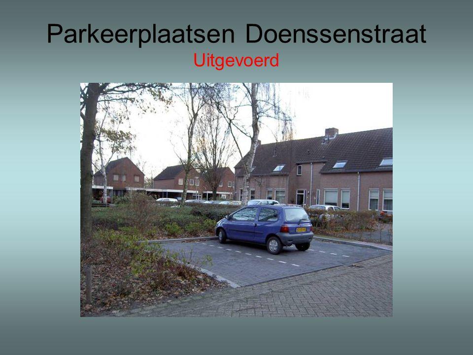 Parkeerplaatsen Doenssenstraat Uitgevoerd