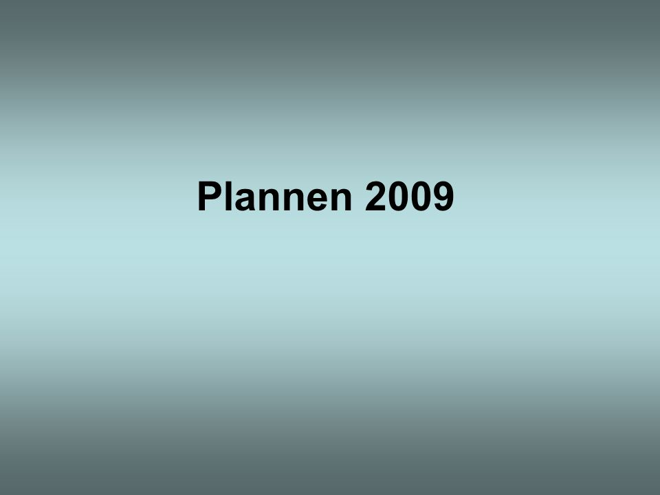Plannen 2009