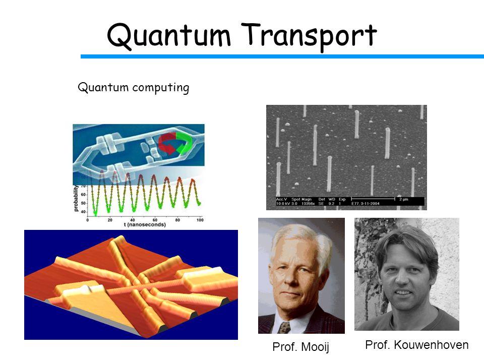 Quantum Transport Prof. Mooij Prof. Kouwenhoven Quantum computing