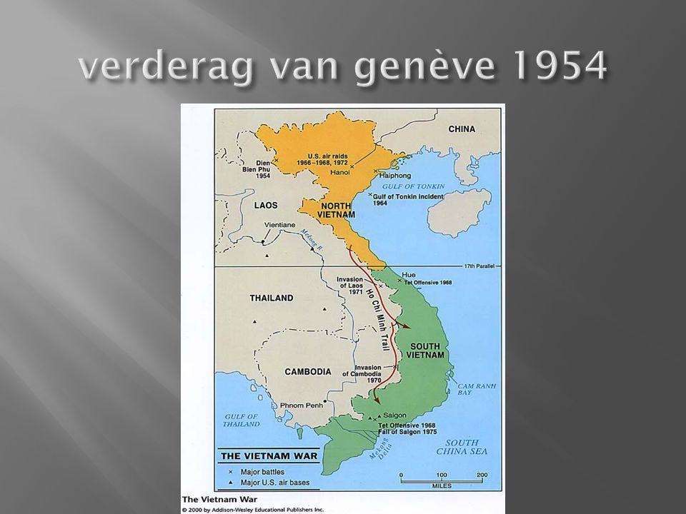  Vietminh bouwt een communistische staat op. VS is tegen kolonisatie.
