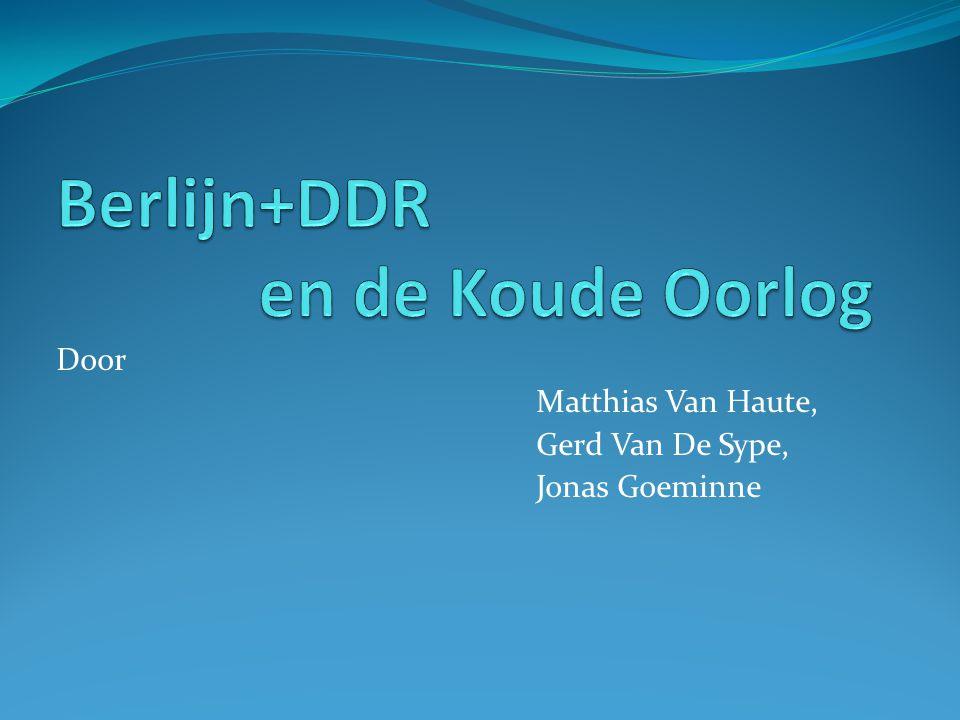 Door Matthias Van Haute, Gerd Van De Sype, Jonas Goeminne