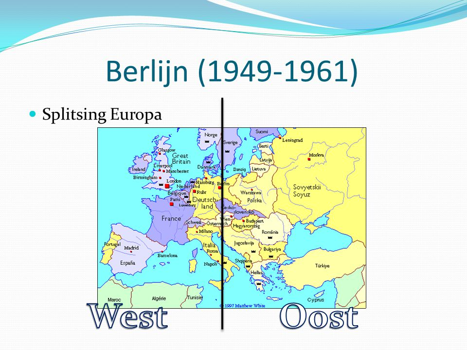 Berlijn (1949-1961) Splitsing Europa