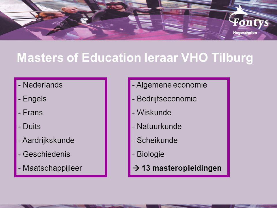 fer. Masters of Education leraar VHO Tilburg - Nederlands - Engels - Frans - Duits - Aardrijkskunde - Geschiedenis - Maatschappijleer - Algemene econo
