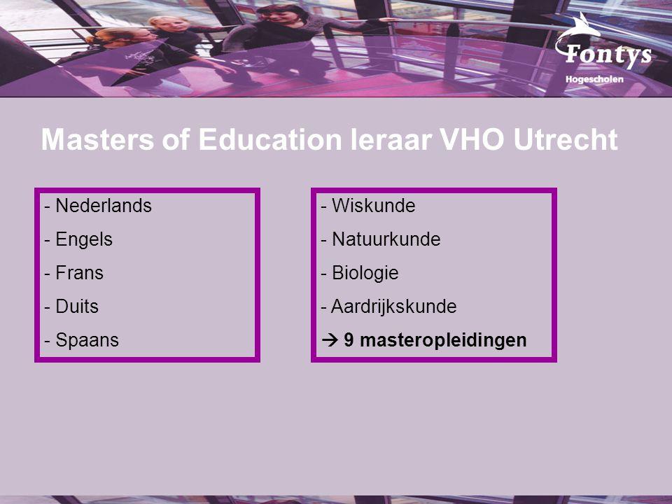 fer. Masters of Education leraar VHO Utrecht - Nederlands - Engels - Frans - Duits - Spaans - Wiskunde - Natuurkunde - Biologie - Aardrijkskunde  9 m