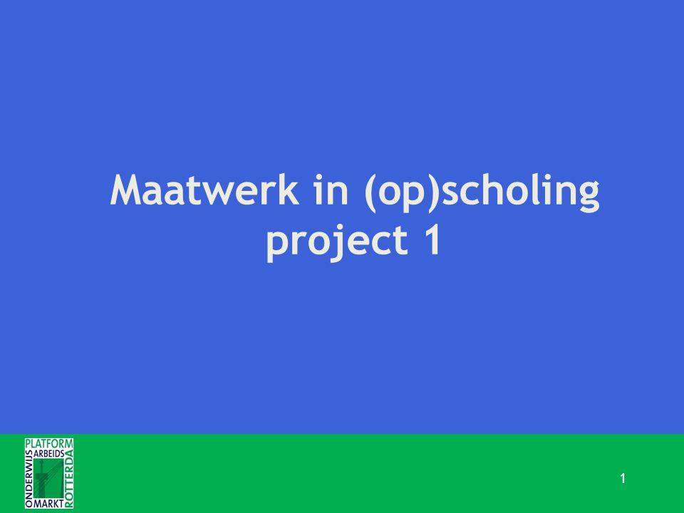 Maatwerk in (op)scholing project 1 1
