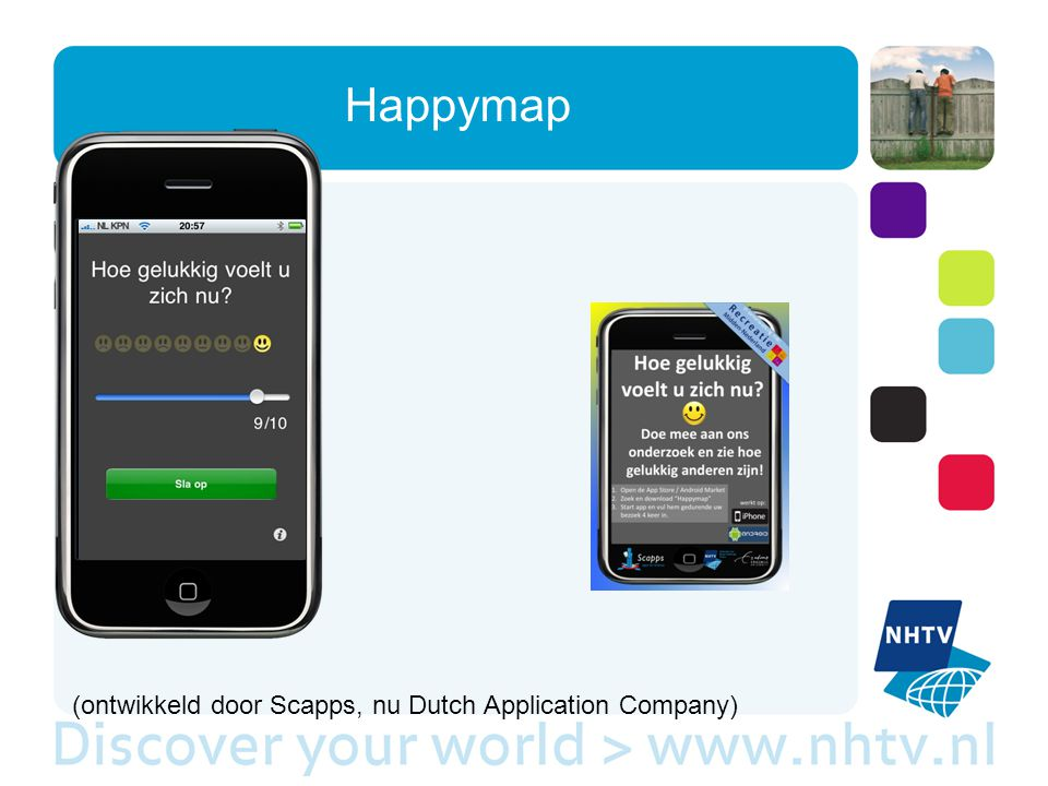 Happymap (ontwikkeld door Scapps, nu Dutch Application Company)