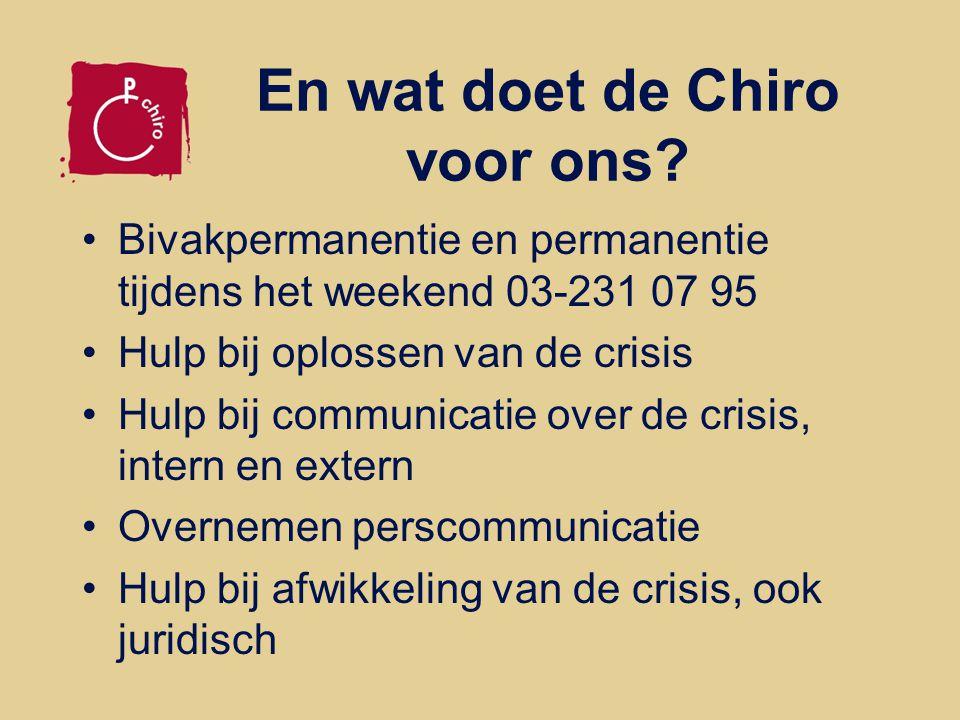 En wat doet de Chiro voor ons.