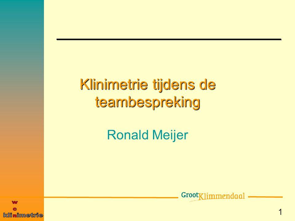 1 Klinimetrie tijdens de teambespreking Ronald Meijer