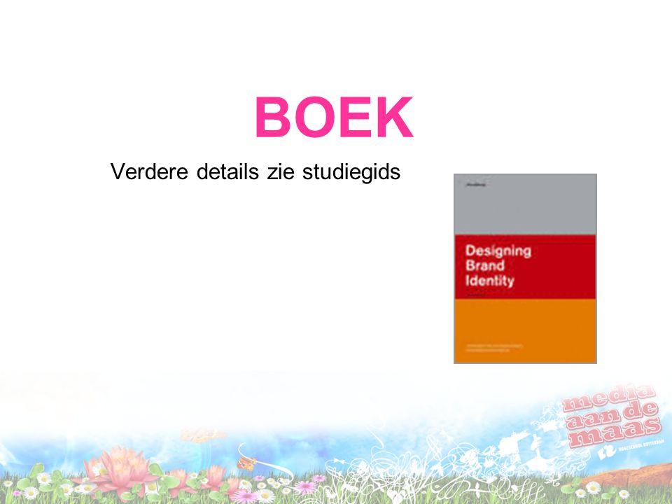 BOEK Verdere details zie studiegids