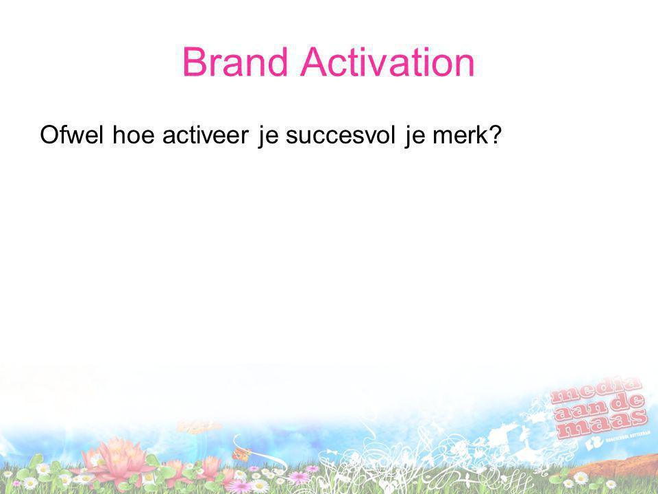 Brand Activation Ofwel hoe activeer je succesvol je merk