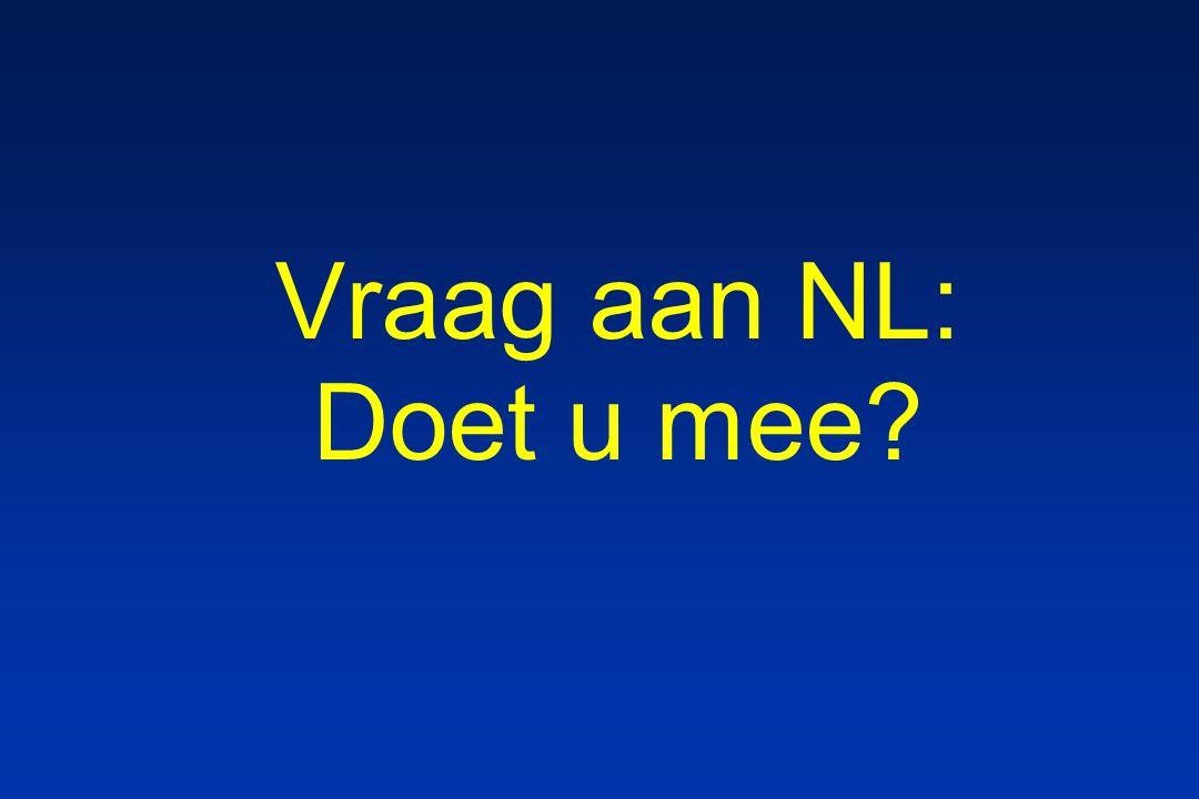 Vraag aan NL: Doet u mee