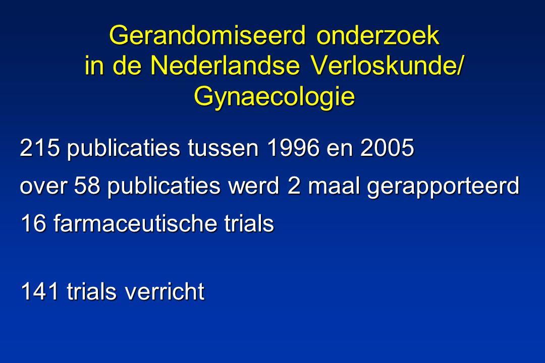141 trials Benigne gynaecologie 17 Fertiliteit (incl.