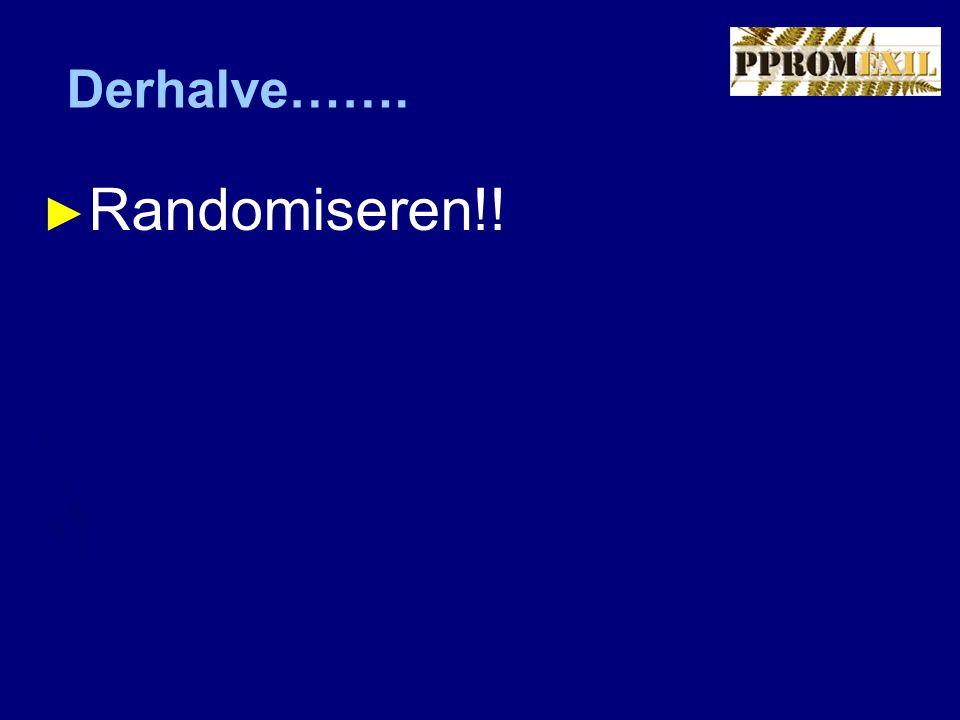 Derhalve……. ► Randomiseren!!
