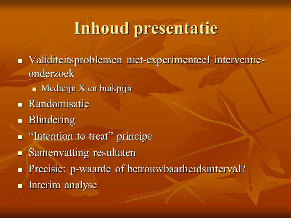 Inhoud presentatie Validiteitsproblemen niet-experimenteel interventie- onderzoek Validiteitsproblemen niet-experimenteel interventie- onderzoek Medic