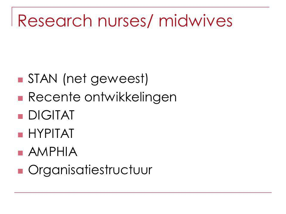 Organisatie Dus Mails die naar alle deelnemende centra moeten gaan stuur je naar Tessa Wiegerinck Tessa stuurt mail door naar clustercoordinatoren / research nurses Research nurse verspreidt ze in de cluster  Nieuwsbrieven  Mail over 100ste etc…