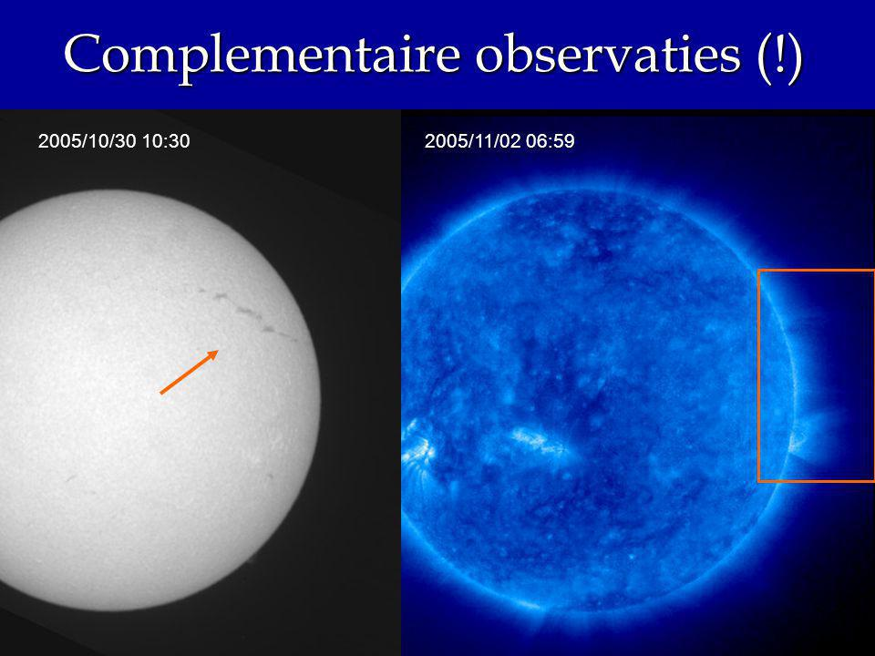 Complementaire observaties (!) 2005/11/02 06:592005/10/30 10:30