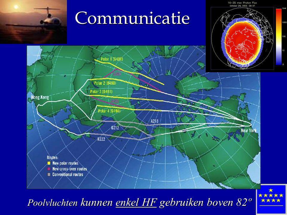 Communicatie Poolvluchten kunnen enkel HF gebruiken boven 82º