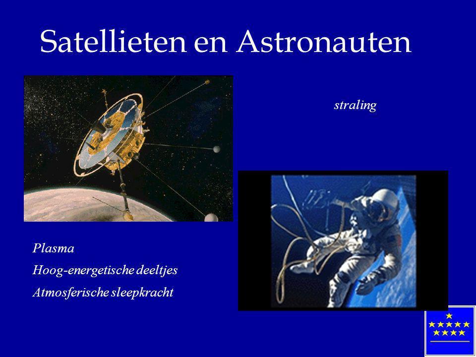 Satellieten en Astronauten Plasma Hoog-energetische deeltjes Atmosferische sleepkracht straling