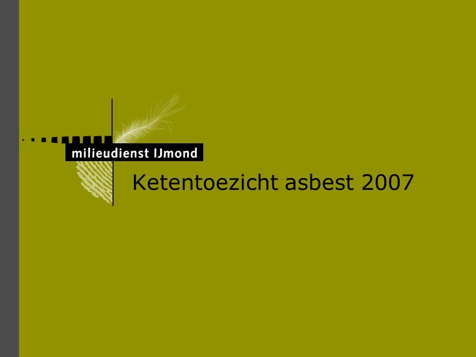 Bij sloop of renovatie kan er asbest vrijkomen Serpentijnen, chrysotiel (wit asbest) Amfibolen, amosiet (bruin asbest) en crocidoliet (blauw asbest)