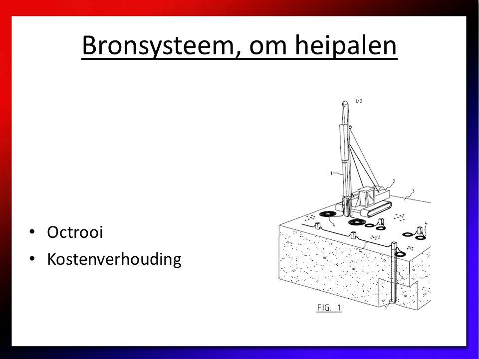 Bronsysteem, om heipalen Octrooi Kostenverhouding