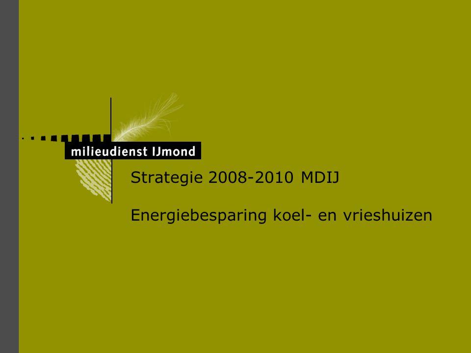 Strategie 2008-2010 MDIJ Energiebesparing koel- en vrieshuizen