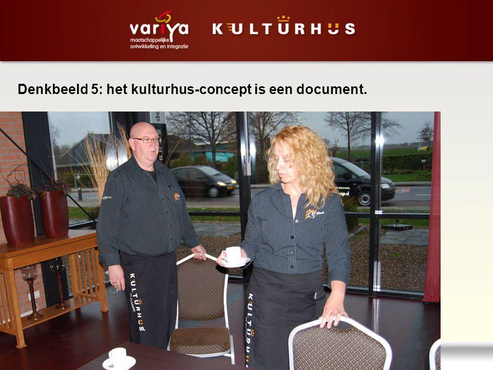 Denkbeeld 5: het kulturhus-concept is een document.