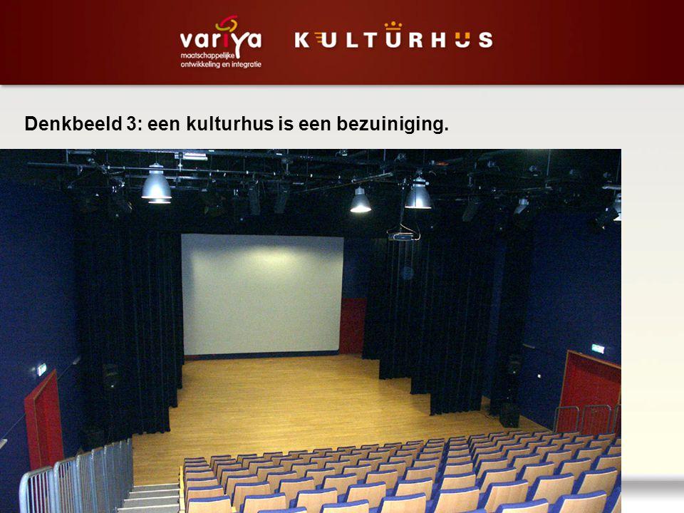 Denkbeeld 3: een kulturhus is een bezuiniging.