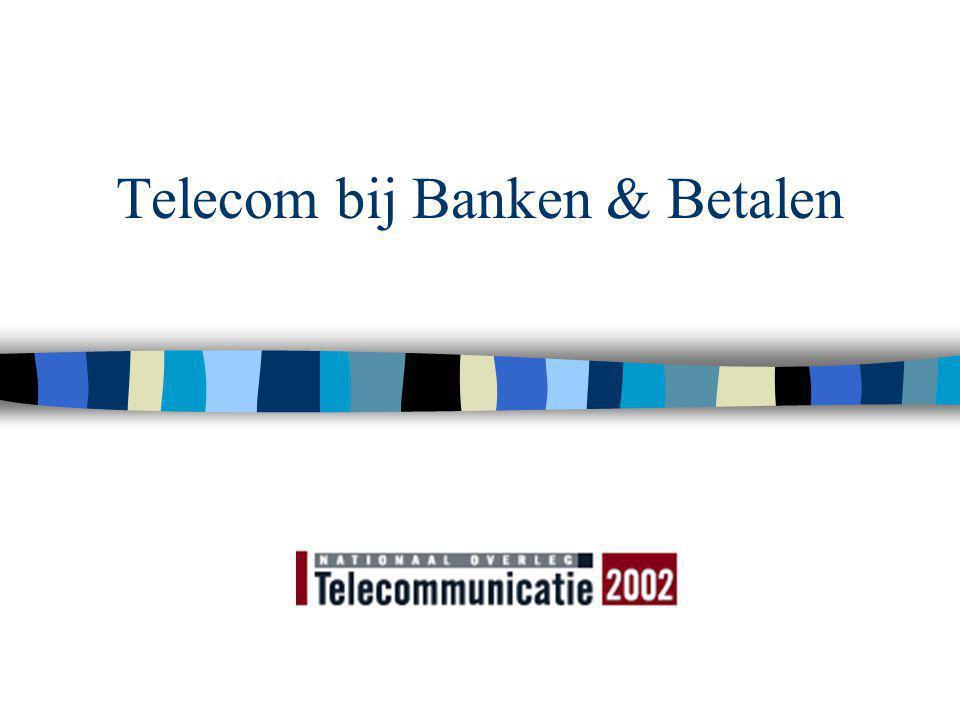 © S Lelieveldt Nationaal Overleg Telecommunicatie 25 juni 2002 Bank, bellen en betalen n Saldoinformatie IVR ontwikkelt zich tot transactiedienst; -> opwaarderen pre-pay n Proef Nedap/KPN/BP tbv betalen bij de pomp n Postbank en Telfort (O2) met WAP (en kanaalonafhankelijke identificatie) n SNS en i-mode, Rabo (?)