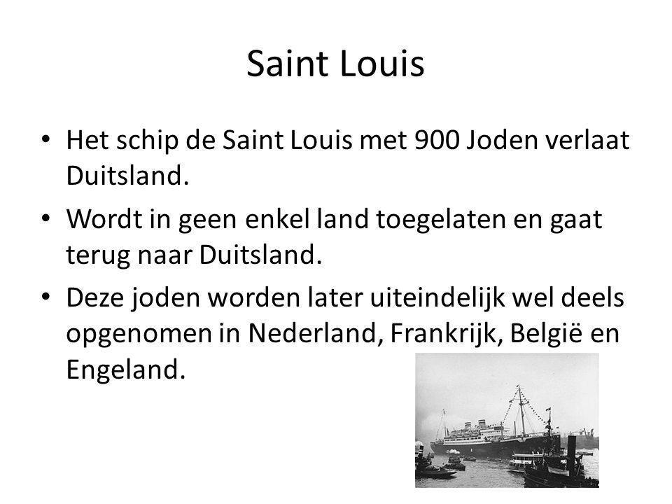 Het schip de Saint Louis met 900 Joden verlaat Duitsland.