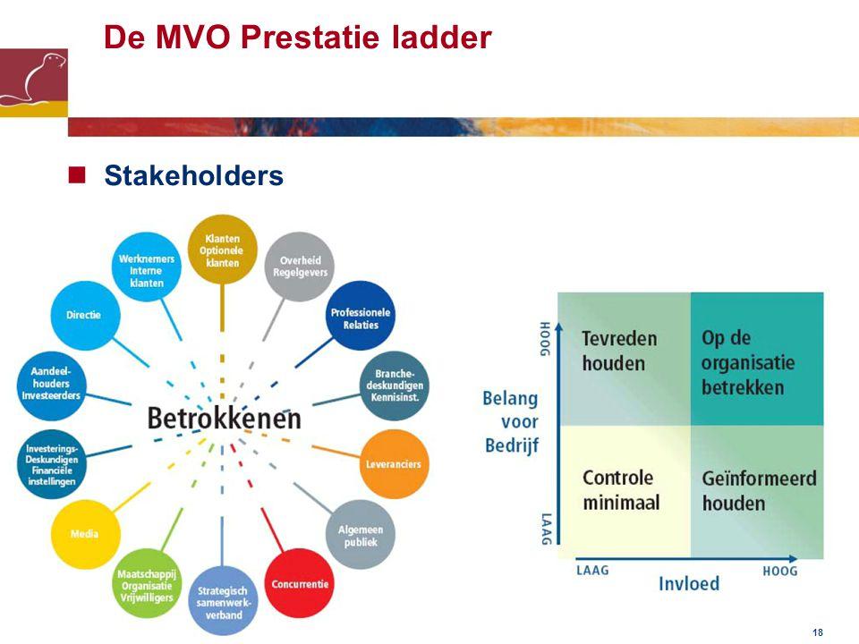 De MVO Prestatie ladder Stakeholders 18
