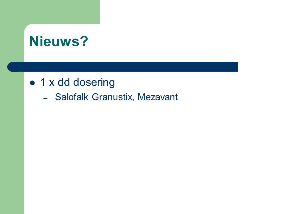 Nieuws? 1 x dd dosering – Salofalk Granustix, Mezavant